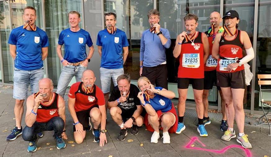 Prachtige tijden van OLC'ers met vier PR's in loeizware marathon van Berlijn
